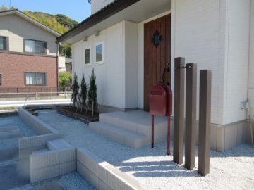 花壇・ポスト・枕木