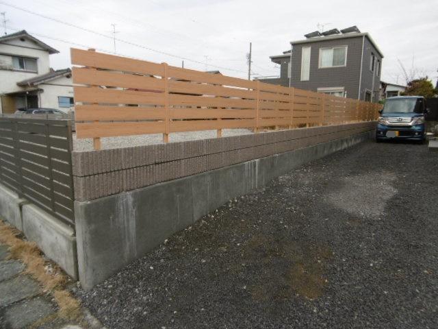 1ブロック・フェンス工事