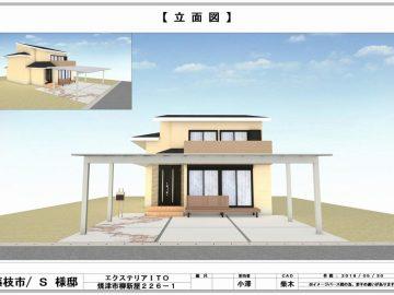 坂田 様邸【立面図】-1