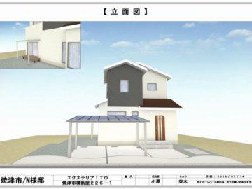 中西 様邸【立面図】-1